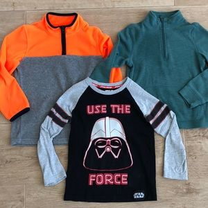 Star Wars and OshKosh fleece half-zip sweatshirt
